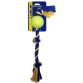 PETSPORT Medium-3-Knotenseil mit Ball